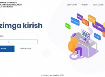 Davlat test markazining rasmiy veb-sayti orqali ro'yxatdan o'tish